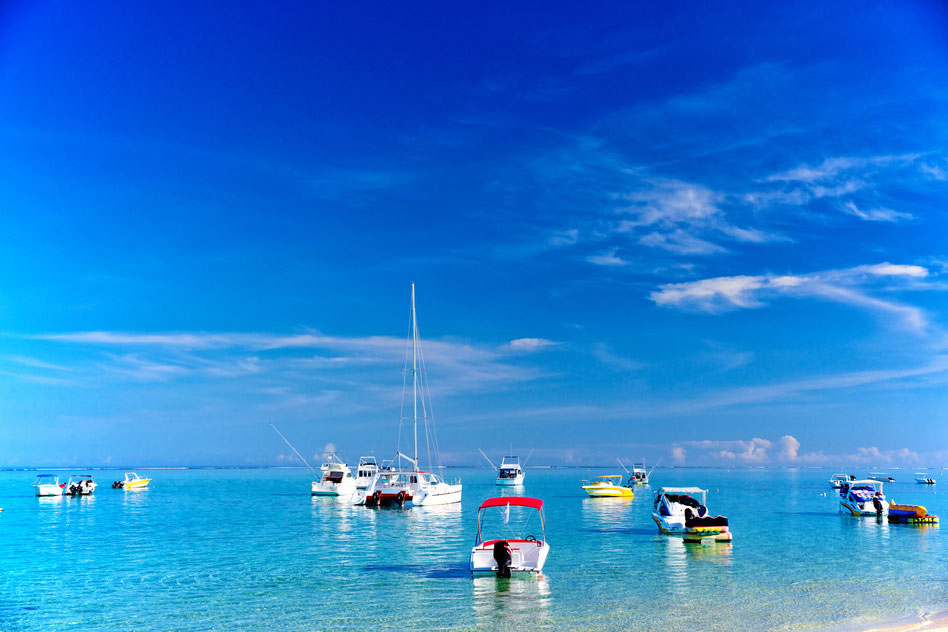 Boats in Mauritius, Africa
