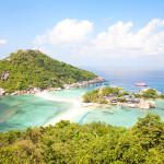 Tropical Island Paradise Koh Nangyuan near Koh Tao Island, Thailand