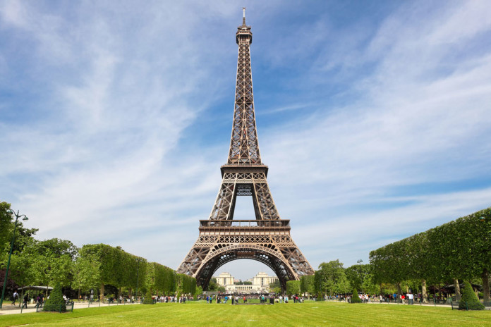 Eiffel Tower, tourist attraction in Paris France