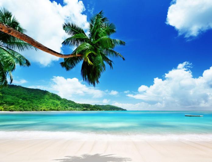 Beach on Mahe Seychelles