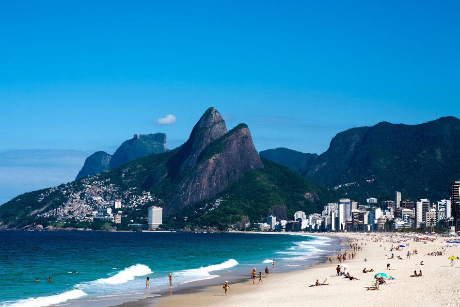 Leblon Ipanema beach in Rio De Janeiro, Brazil