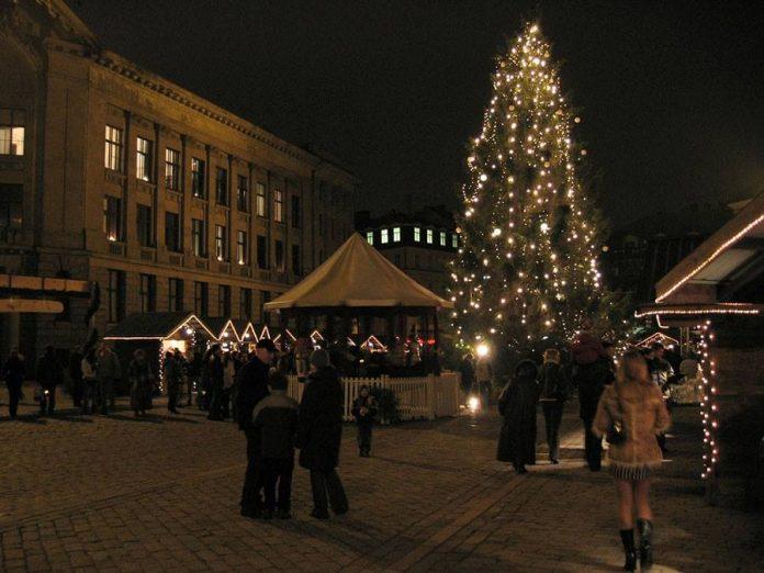 Winter market in Riga, Latvia
