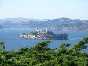 Alcatraz island, the old prison in San Francisco bay