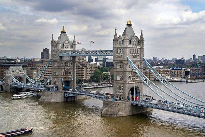 Tower Bridge and London Bridge in London