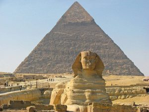 Sphinx and the Pyramid of Chephren