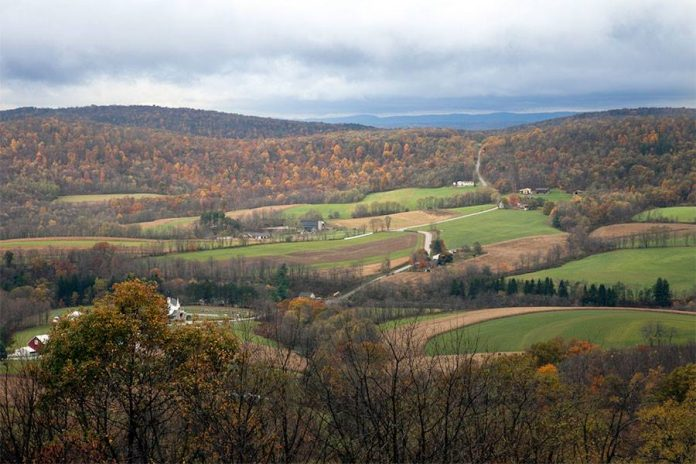A great view from the Allegany Mountains in West Virginia.